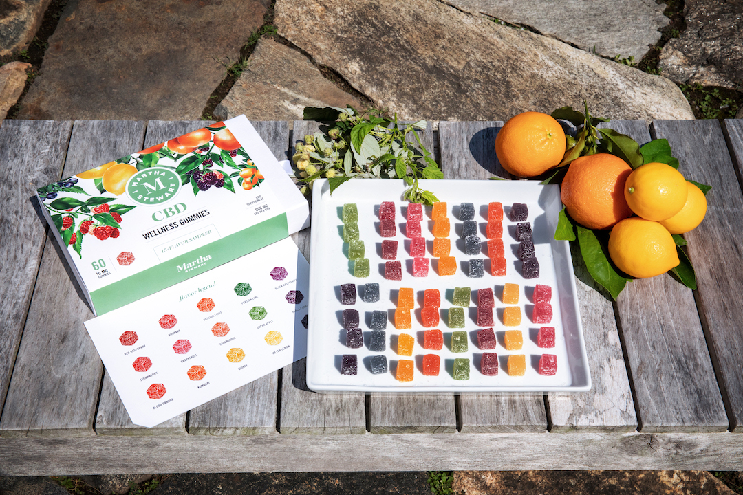 The Martha Stewart CBD Wellness Gummies Sampler features all of the flavors of the Berry and Citrus Medley CBD gummies.