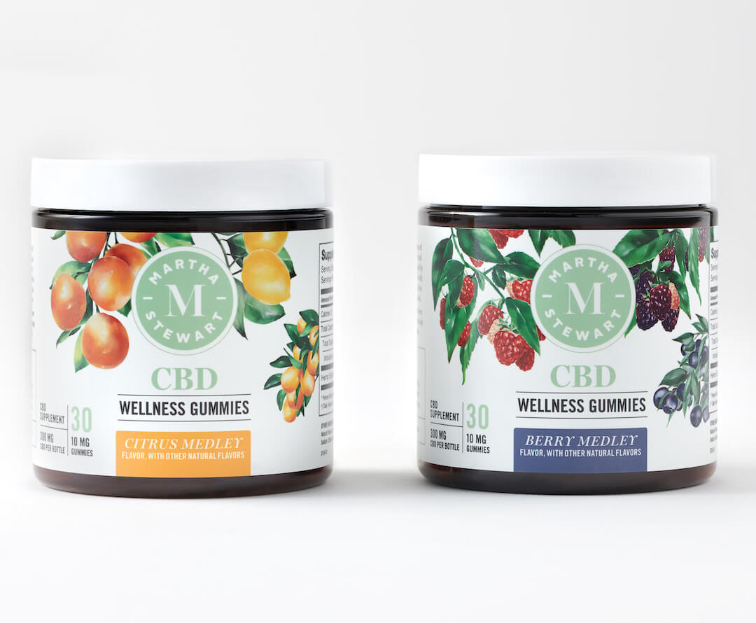 Martha Stewart CBD wellness gummies in Berry Medley and Citrus Medley make the perfect Valentine's Day gift for the one you love.