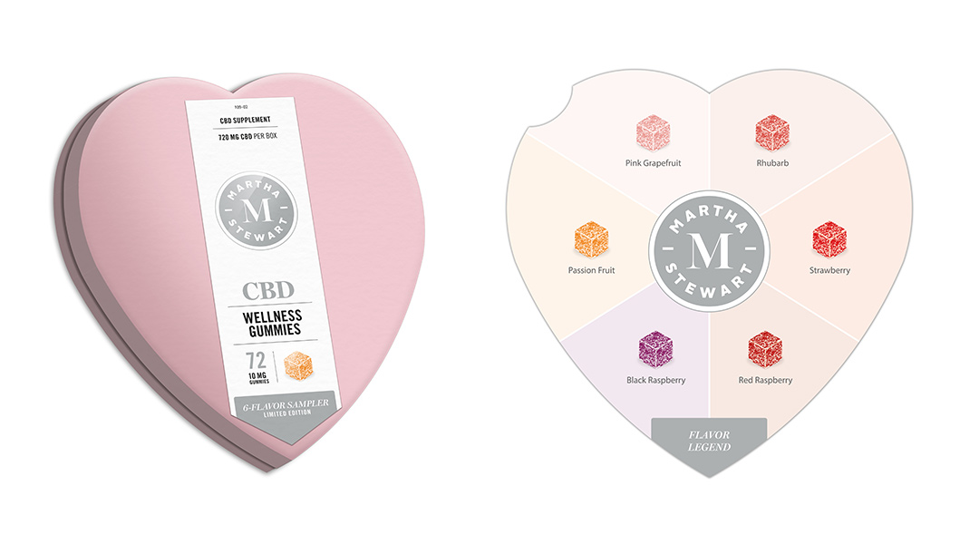 These tasty, gourmet CBD gummies come in a sweet heart-shaped tin, making them our favorites Valentine's Day gift idea!